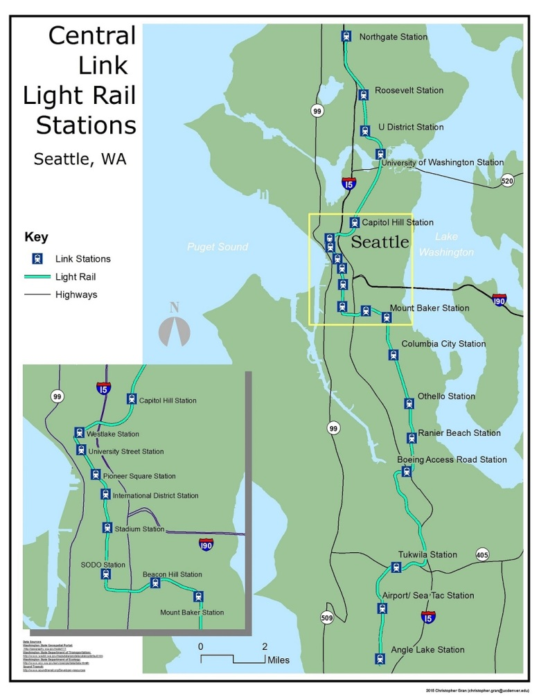 Seattle Link Light Rail – GIS Mapping